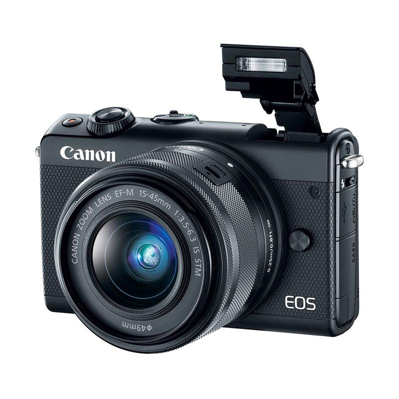 Canon EOS M100 Kit 15 45mm Kamera Mirrorless
