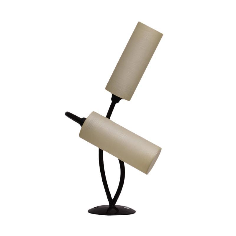 Thema Home 6021 AMB 2 Tube Table Lamp - Cream
