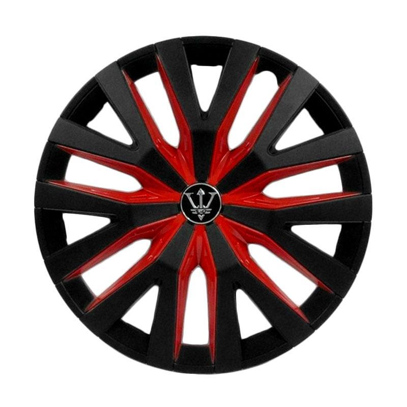 SIV WD1-1RD-14 Inch Sport Wheel Cover Evolution Design Dop Roda Mobil - Black Red