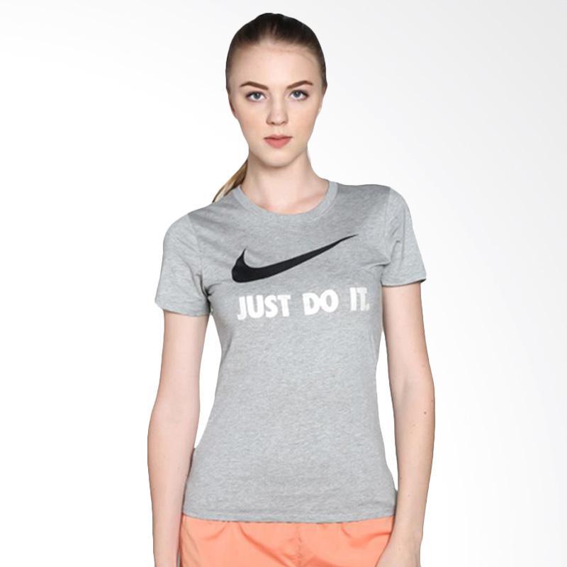 NIKE AS Tee Just Do It Swoosh Kaos Olahraga Wanita - Grey [685519068]