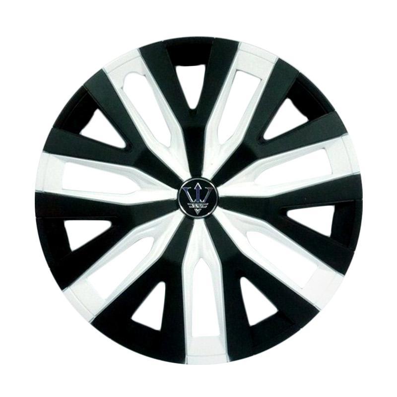 SIV WD4-1WH-14 Inch Sport Wheel Cover Evolution Design Dop Roda Mobil - Black White