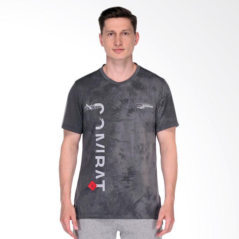 Reebok Combat Spraydye Mens Tee Pakaian Fitness Pria - Grey [BJ8879]