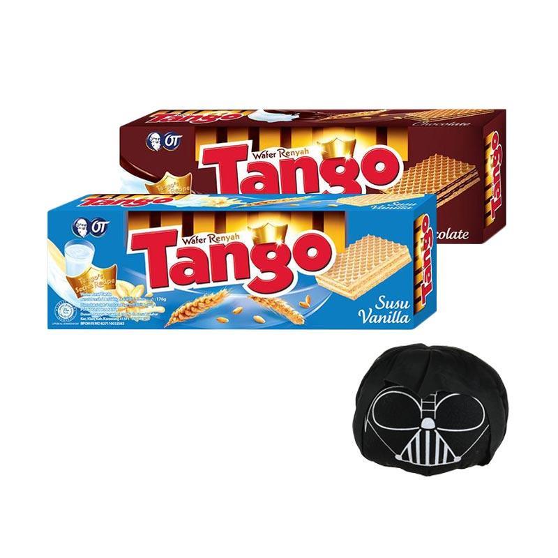 harga Tango Wafer Chocolate [176 g] + Tango Wafer Vanilla [176 g] + Tsum Tsum Tango Darth Vader Blibli.com