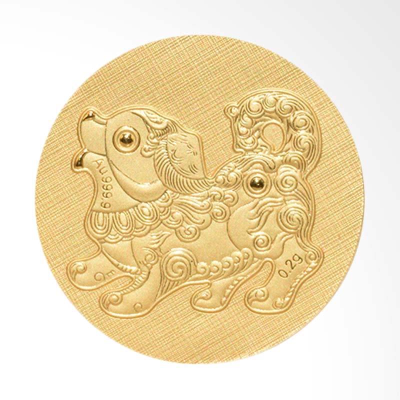Tiaria 24K Dog Coin Logam Mulia Emas Murni [24 Karat/ 0.2 g]