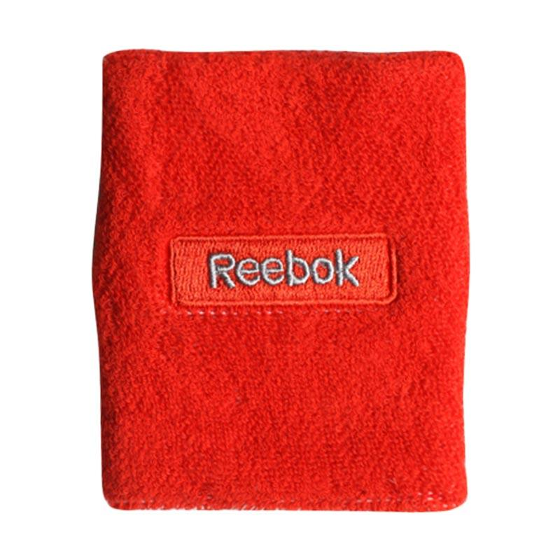 Reebok Aksesoris Olahraga Basket Wristband Embossed Riot - Red Grey [W6120]