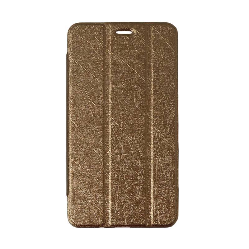 QCF Flip Cover Tablet Lenovo PB1-770N  Leather Case Dompet Tablet Lenovo Phab Plus 6.8 Inch PB1 770N - Coklat