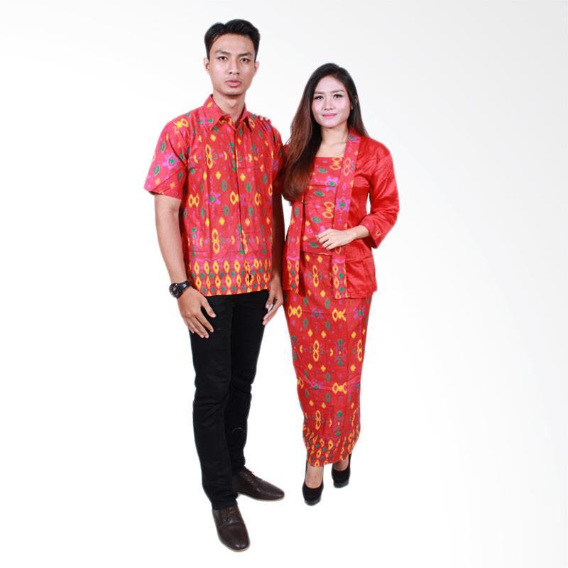 Batik Putri Ayu Solo SRG 501 Sarimbit Ayuna Baju Batik Couple - Merah