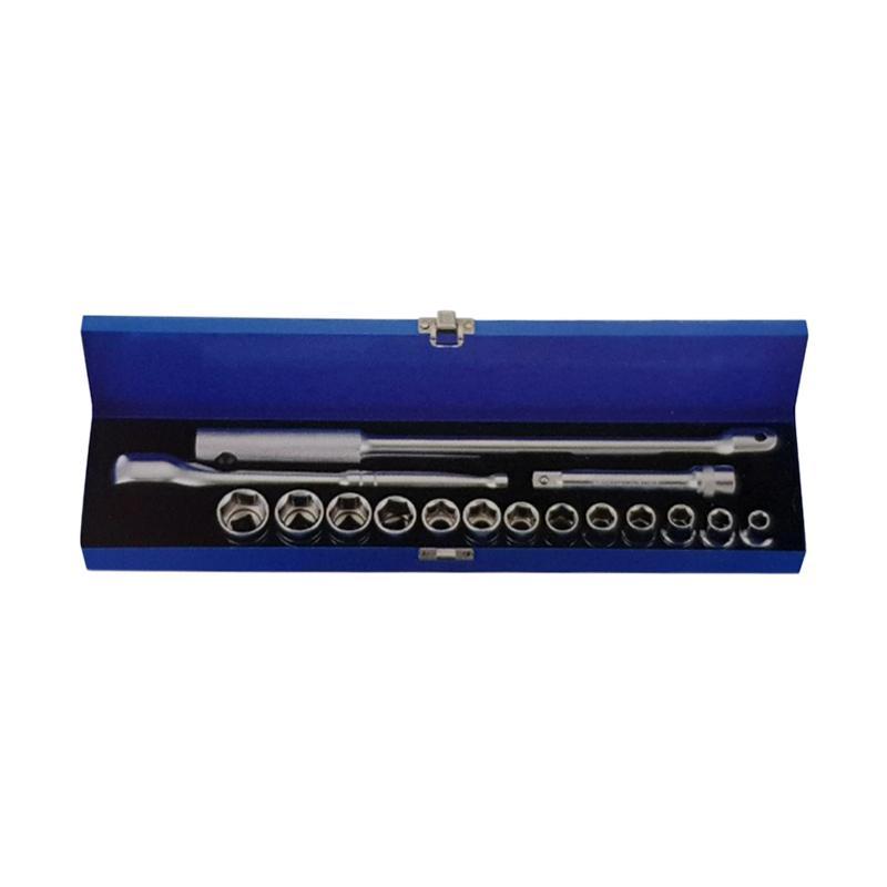 MultiPro Set Kunci Socket Kunci Sok  [17 pcs/6 PT/1/2