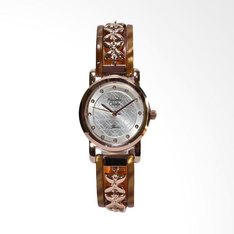 Alexandre Christie 2568LHBRGSLYL Stainless Steel Jam Tangan Wanita - Brown Rosegold