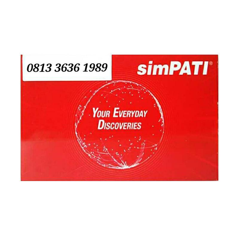 Telkomsel Simpati Nomor Cantik 0813 3636 1989 Kartu Perdana [4G]