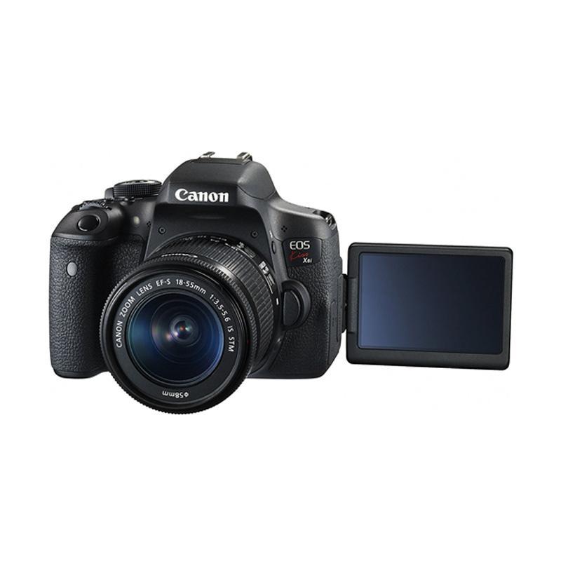 harga Canon Kiss X8i Kit 18-55mm STM Kamera DSLR + Screenguard Terpasang + Memory 16GB Ladang Blibli.com