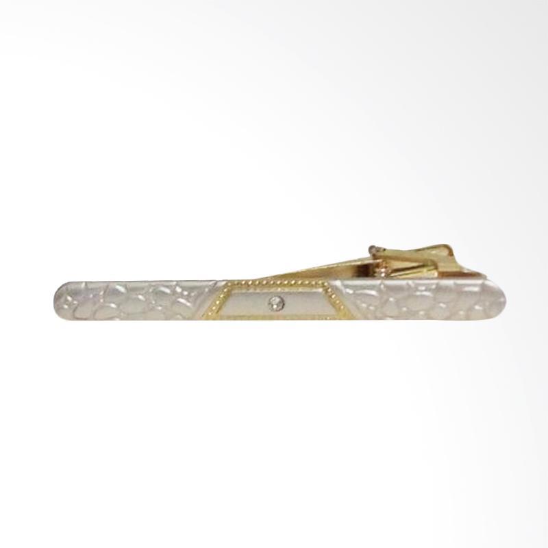 Jogjakhas Clip Pin Dasi Pria - Silver Gold