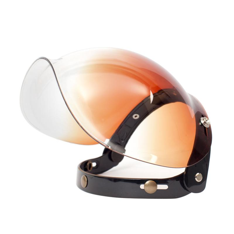 Boulter Helmet Combo Bubble Shield Visor Helm - Gradient Amber