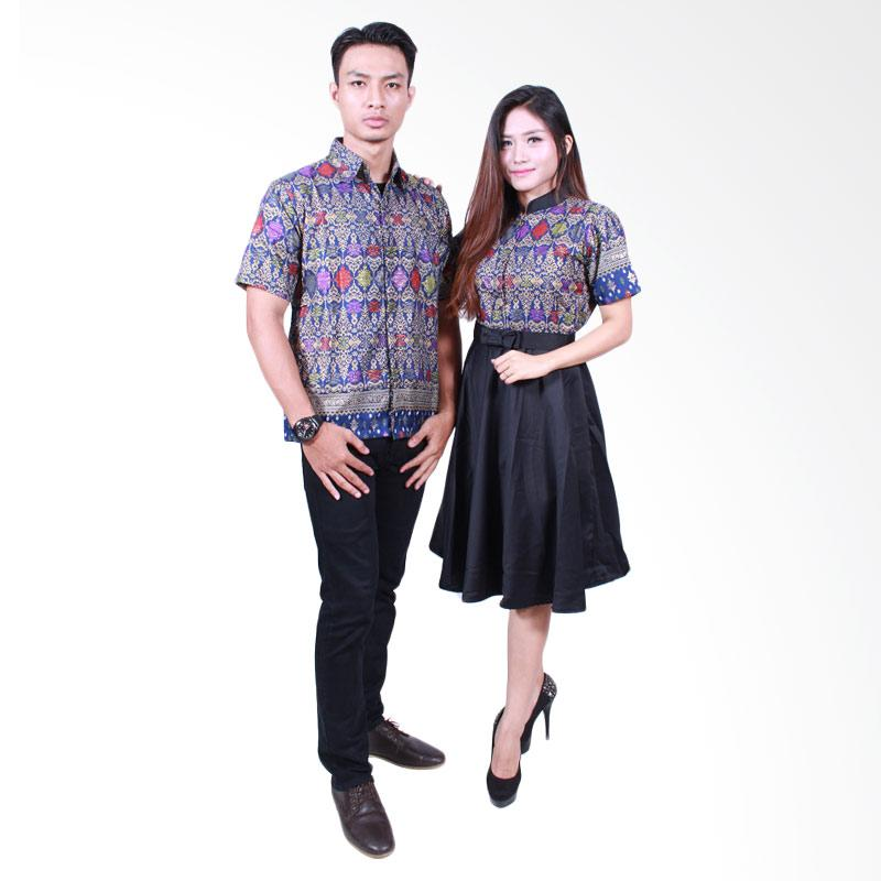 Batik Putri Ayu Solo SRD502 Batik Sarimbit Couple - Hitam