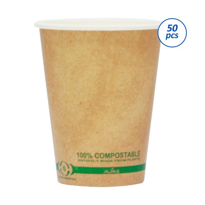 Avani Paper Coffee Cup - Brown [50 pcs/pack/ 12 oz]