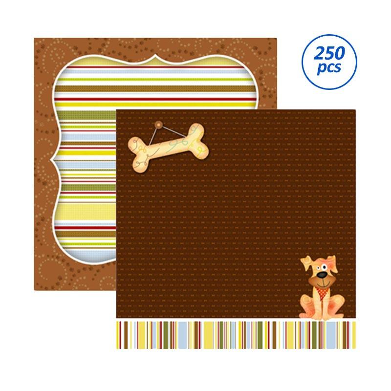 SP097 Woofing Scrapbooking Paper [10 Pack/ 25 Sheets]