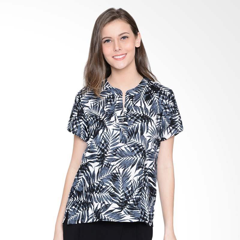A&D Fashion Ms 986 Ladies Blouse Atasan Wanita - Black