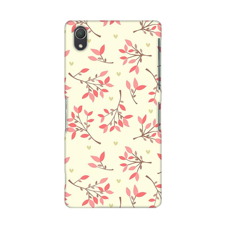 Premiumcaseid Cute Floral Seamless Shabby Hardcase Casing for Sony Xperia Z2