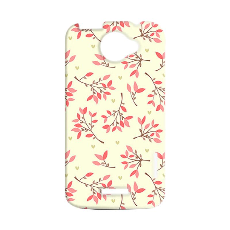 Premiumcaseid Cute Floral Seamless Shabby Hardcase Casing for HTC One X