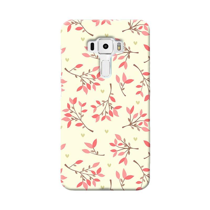 Premiumcaseid Case Cute Floral Seamless Shabby Hardcase Casing for Asus Zenfone 3