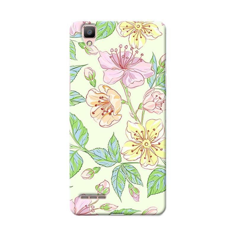Premiumcaseid Beautiful Flower Wallpaper Hardcase Casing for Oppo F1