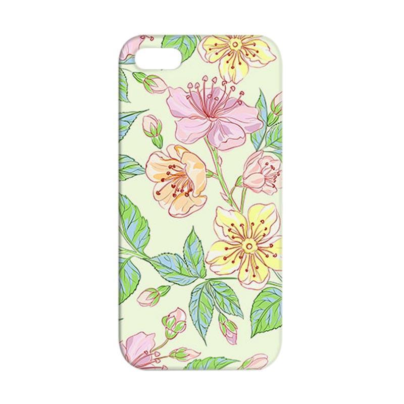 Premiumcaseid Beautiful Flower Wallpaper Hardcase Casing for iPhone SE