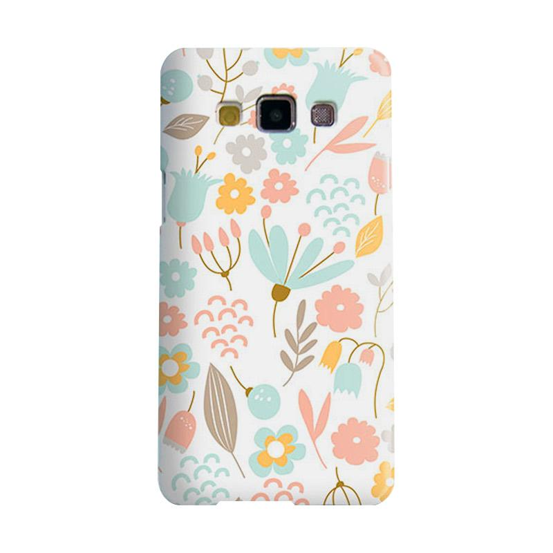 Premiumcaseid Cute Pastel Shabby Chic Floral Hardcase Casing for Samsung Galaxy A7