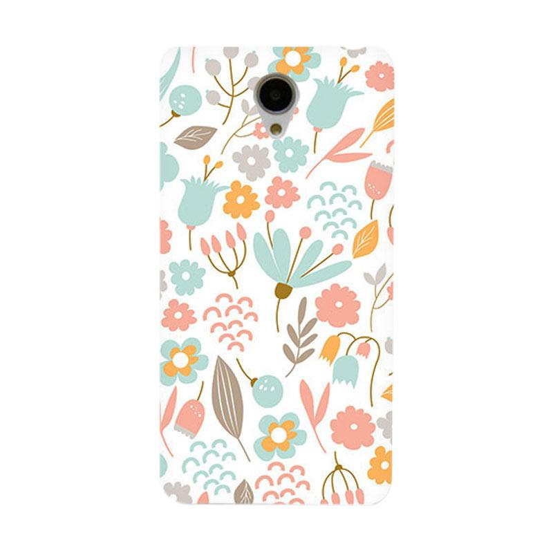 Premiumcaseid Cute Pastel Shabby Chic Floral Hardcase Casing for Xiaomi Redmi Note 2