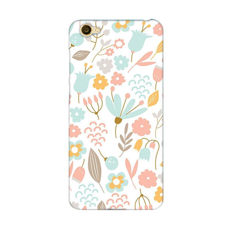 Premiumcaseid Cute Pastel Shabby Chic Floral Hardcase Casing for Vivo Y55