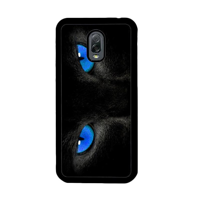 Flazzstore Black Cat Eyes Z1119 Custom Casing for Samsung Galaxy J7 Plus