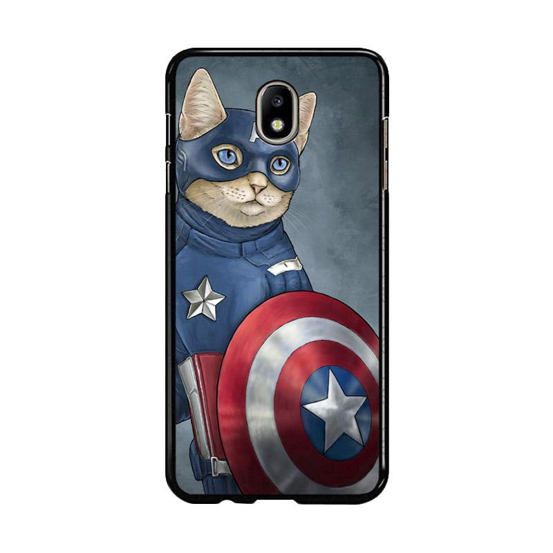 Flazzstore Captain America Cat Z0998 Costum Casing for Samsung Galaxy J7 Pro 2017