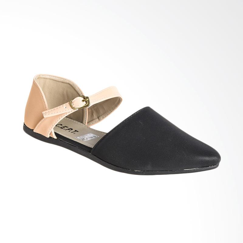 A.C.C.E.P.T. Alexis Flat Shoes - Black Cream