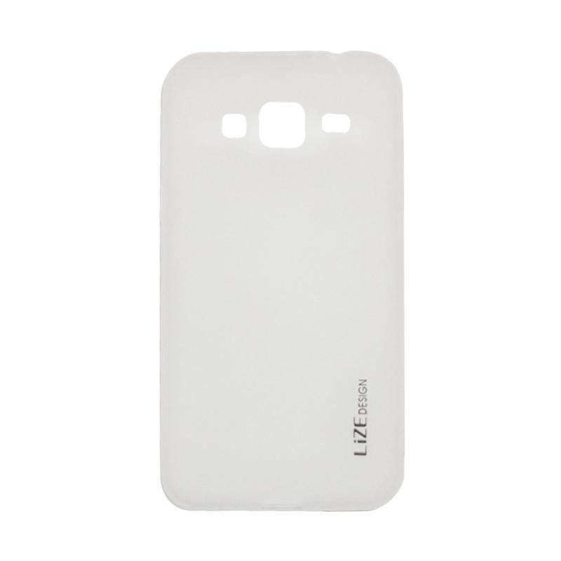 Lize Design Case Anti Glare Silicone Casing for Samsung Galaxy J310 / J3 2016 Candy Case Matte - Putih Transparan