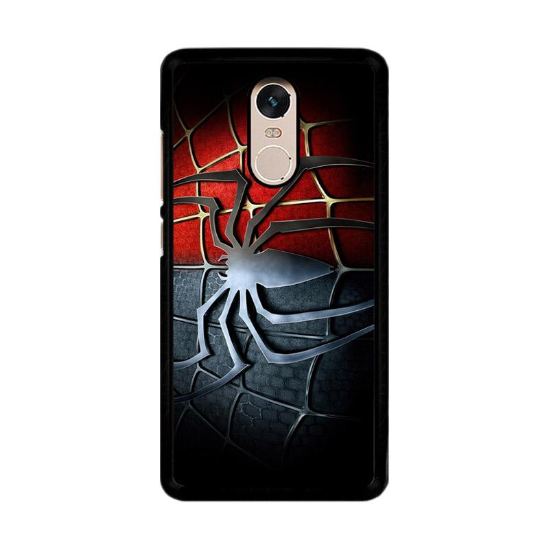 Flazzstore Spiderman Symbol F0221 Custom Casing for Xiaomi Redmi Note 4 or Note 4X Snapdragon Mediatek
