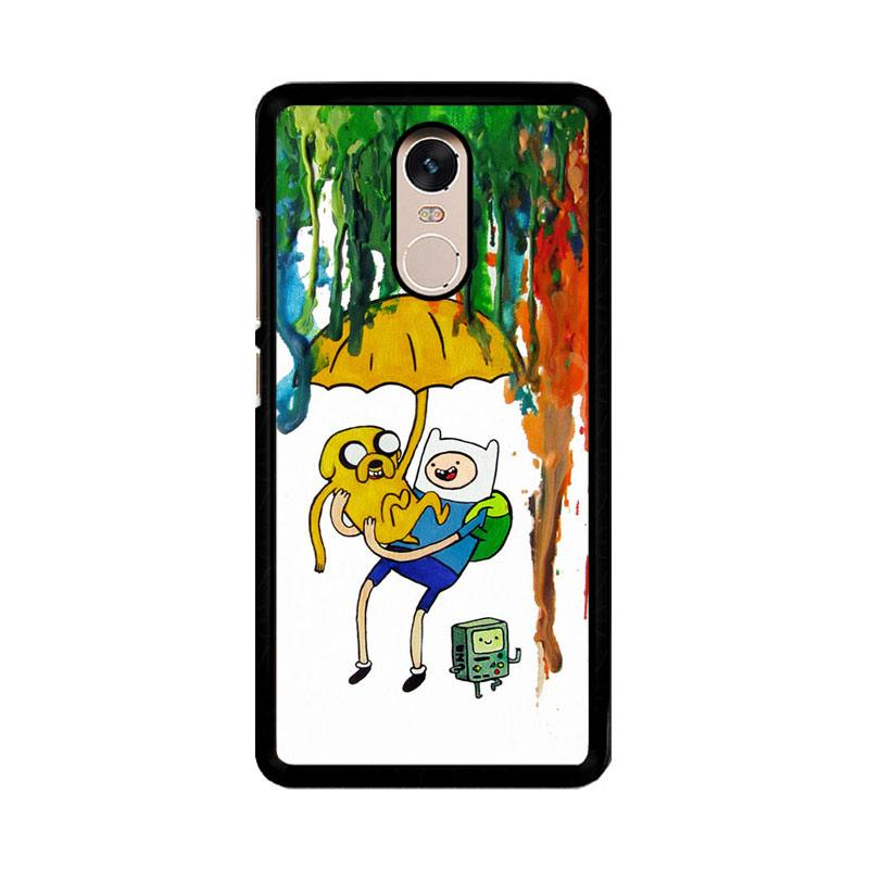 Flazzstore Adventure Time Painting F0254 Custom Casing for Xiaomi Redmi Note 4 or Note 4X Snapdragon Mediatek