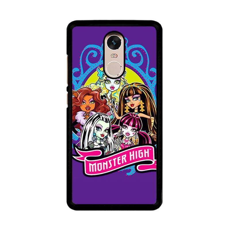 Flazzstore Monster High Z0708 Custom Casing for Xiaomi Redmi Note 4 or Note 4X Snapdragon Mediatek