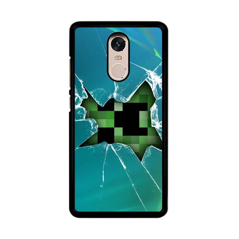 Flazzstore Minecraft Creeper Broken Glasses F0519 Custom Casing for Xiaomi Redmi Note 4 or Note 4X Snapdragon Mediatek