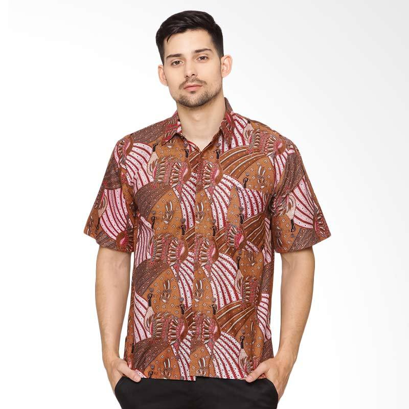 Jening Batik Short Sleeve - Brown Red [HR-065]