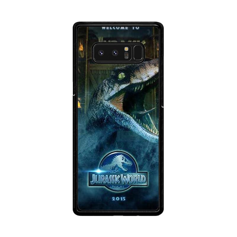 Flazzstore Welcome Jurasic World F0719 Custom Casing for Samsung Galaxy Note8