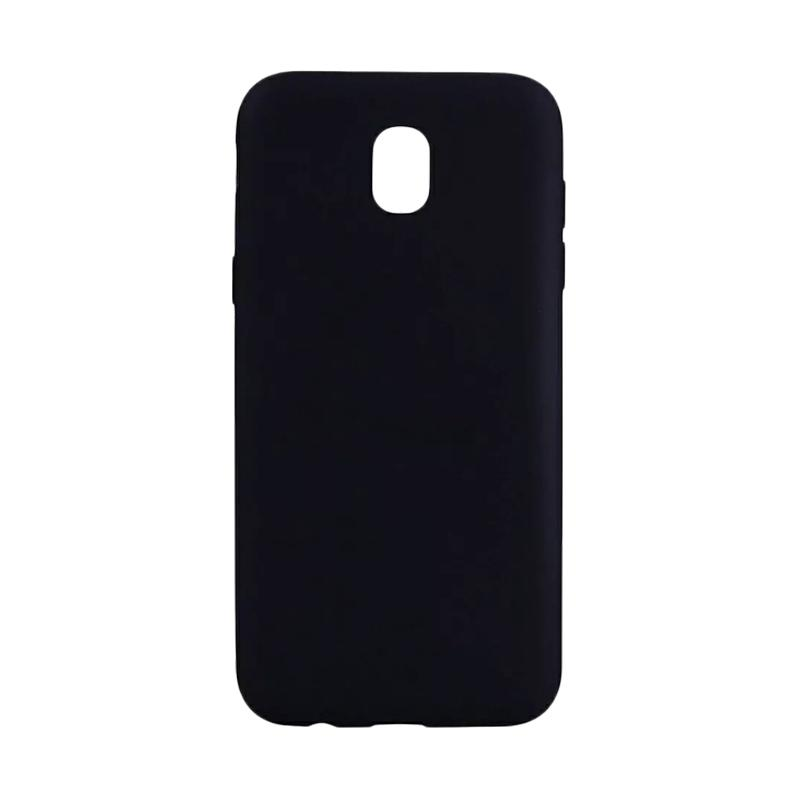 Softcase Design Slim Anti Glare Silikon Casing for Samsung Galaxy J3 Pro 2017 J330 - Hitam