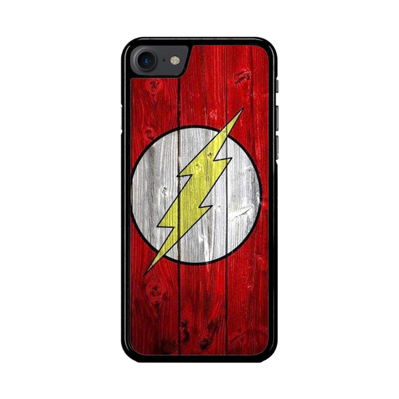 Flazzstore Flash Superhero Logo On Wood Z1692 Custom Casing for iPhone 7 or 8