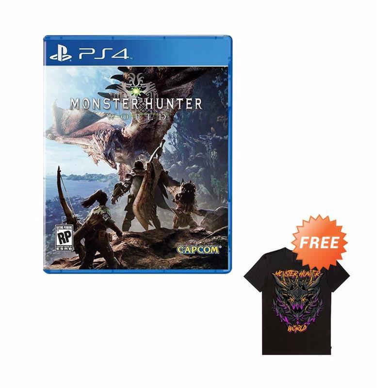 Preorder - SONY PS4 Monster Hunter World DVD Games [Bonus 1x T-Shirt]