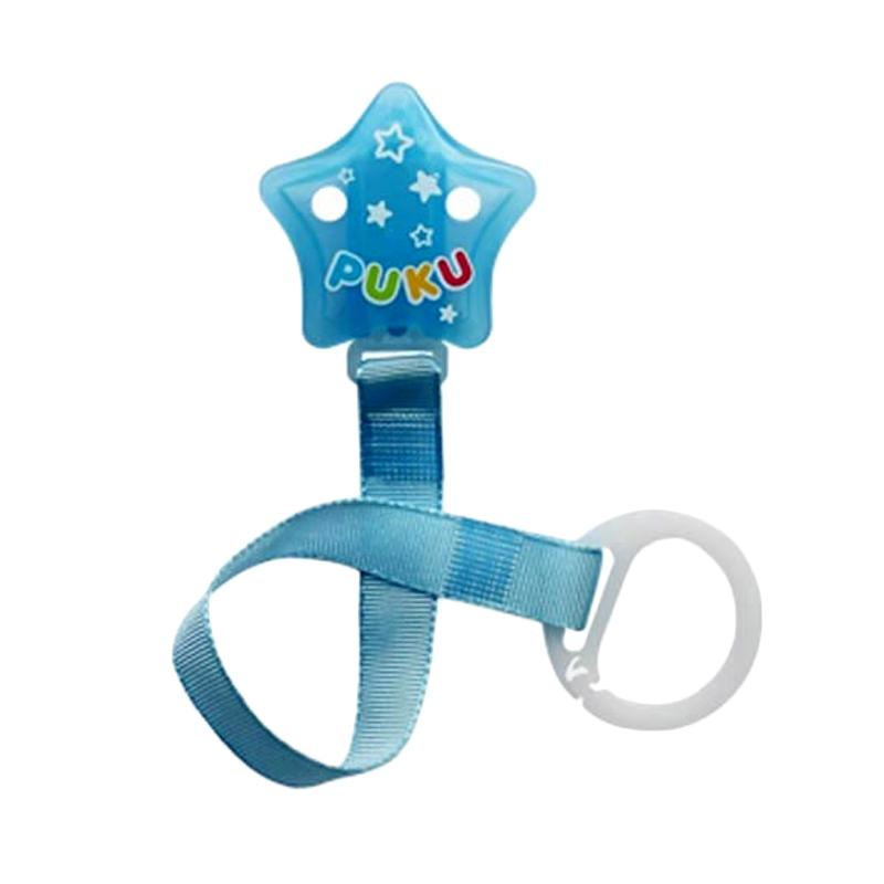 Puku 11115 Star Stripe Chain Pacifer - Blue