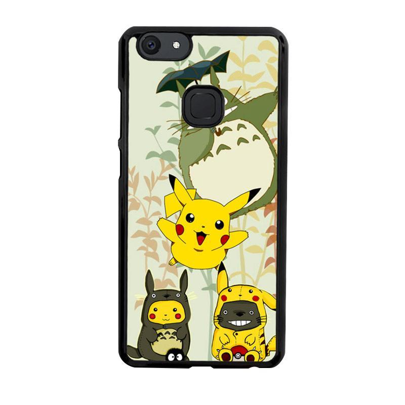 Flazzstore Totoro Love Pikachu Pokemon Z3271 Custom Casing for VIVO V7 Plus