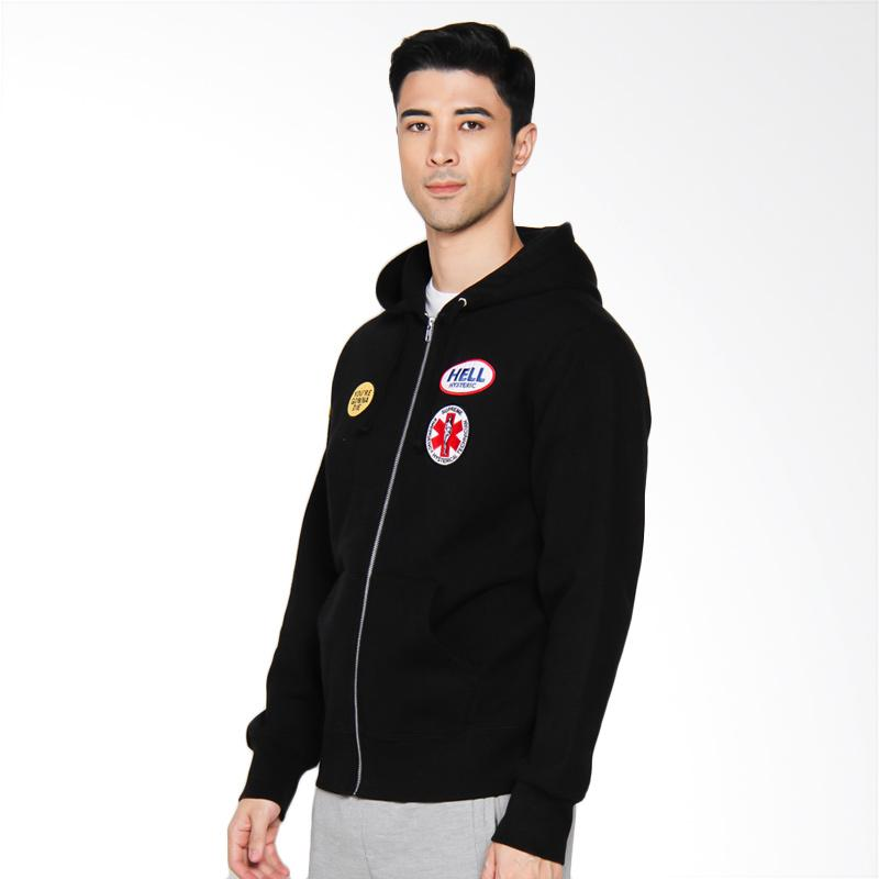 Supreme New York Hysteric Glamour Patches Zip-Up Sweatshirt - Black