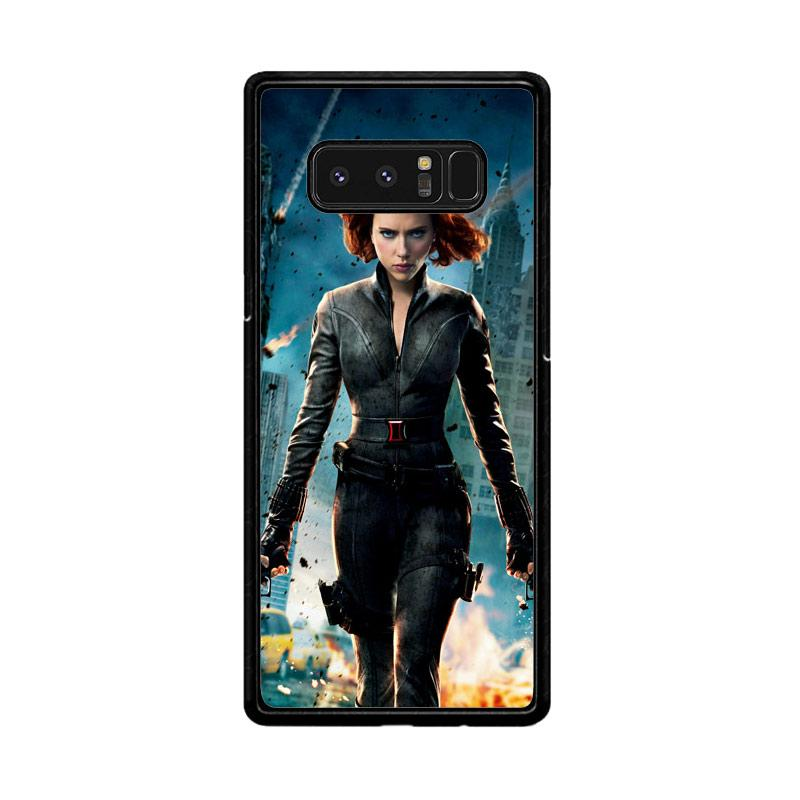 Flazzstore Black Widow Avengers Z1576 Custom Casing for Samsung Galaxy Note 8