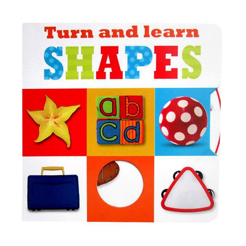Genius Turn And Learn Shapes Turn The Wheels Board Book Buku Edukasi Anak