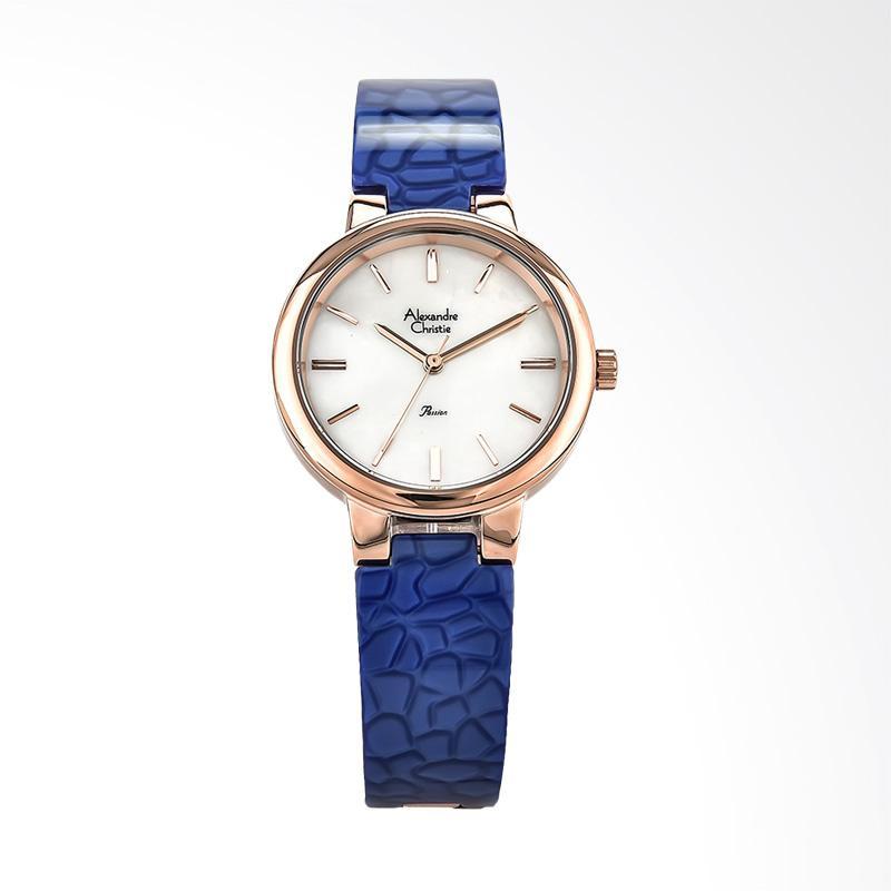 Alexandre Christie Ladies AC 2573 LH BRGMSBU Jam Tangan Wanita - Blue Rosegold