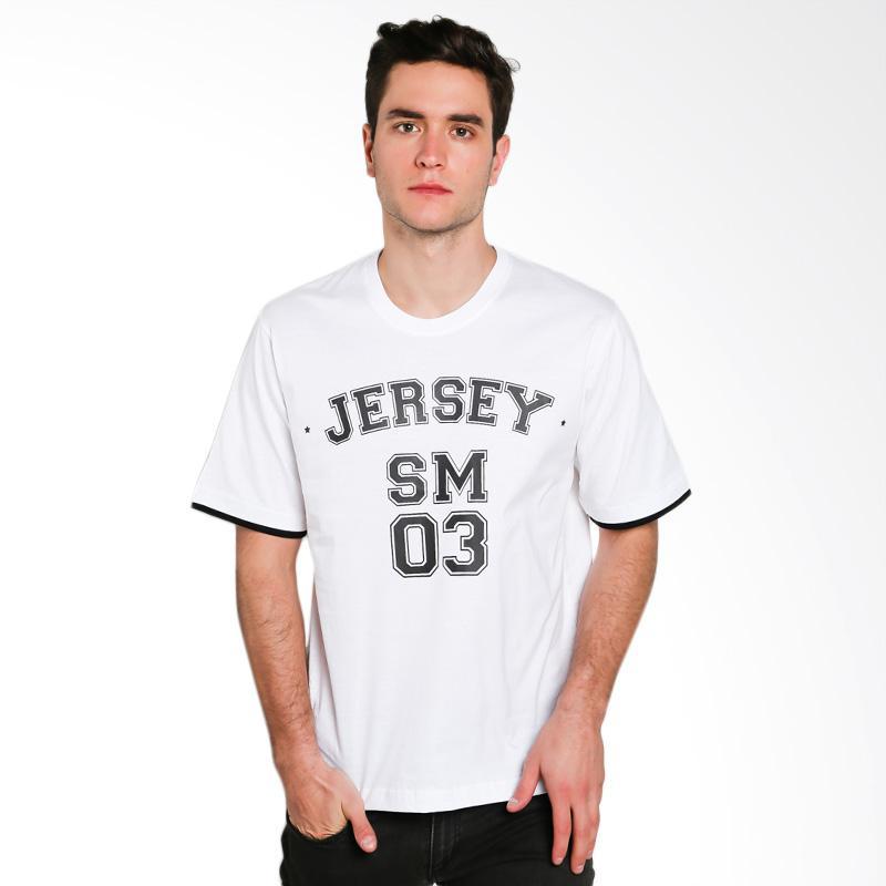Hypestore Jersey T-Shirt Pria - White [3553-2063]