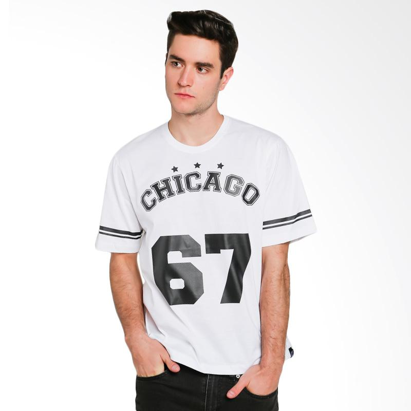 Hypestore Chicago T-Shirt Pria - White [3555-2063]